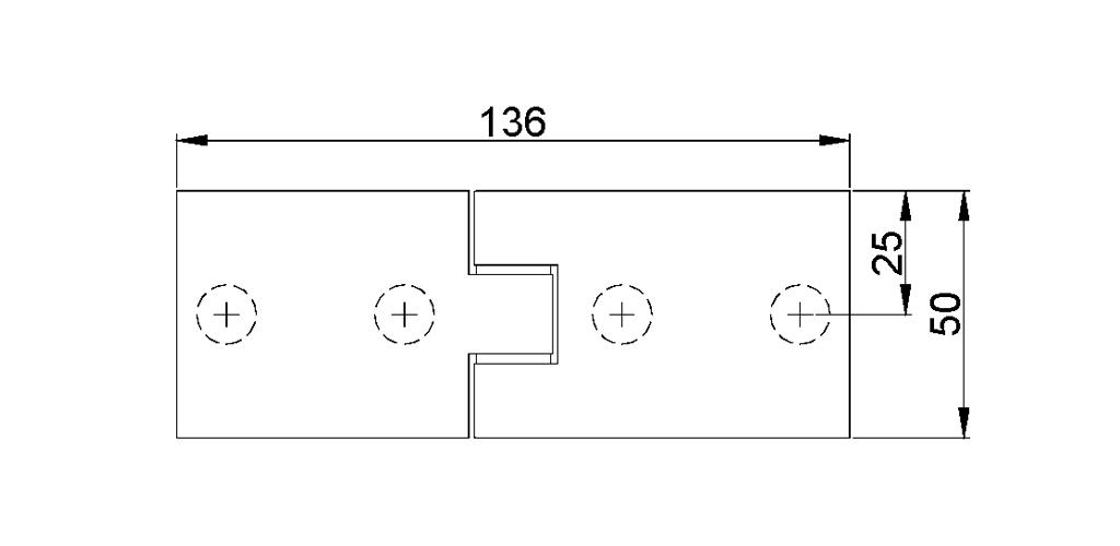 technische Zeichnung glastür scharnier für dusche mit außenöffnung 180° ART. 700C 700-serie