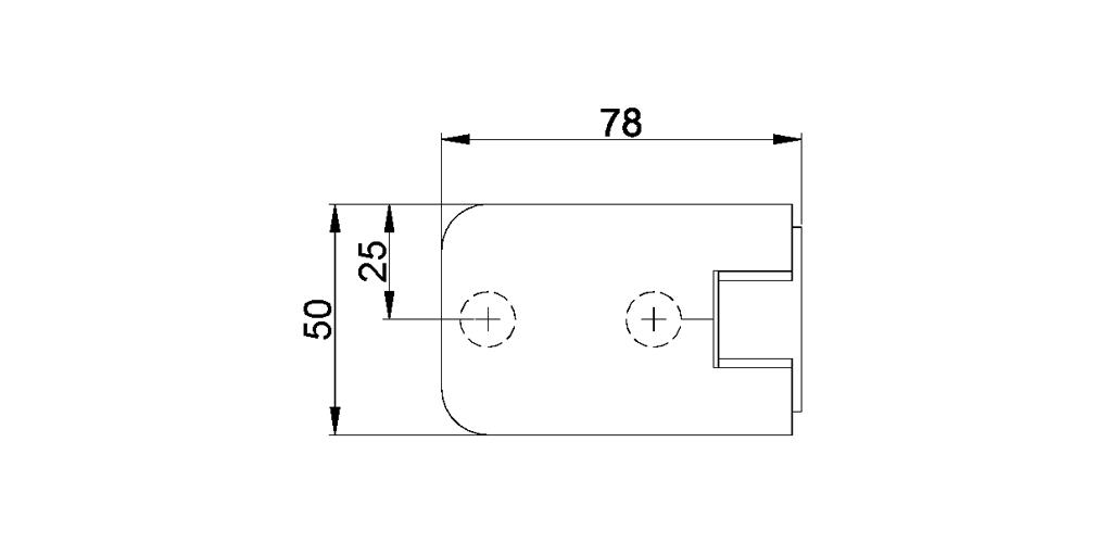 technische Zeichnung glastür scharnier für dusche mit außenöffnung 180° ART. 701A 700-serie