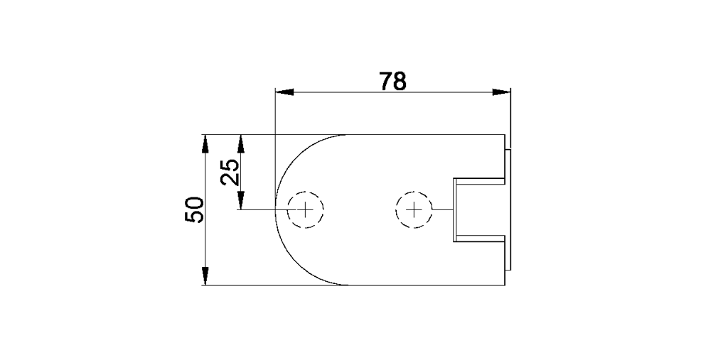 technische Zeichnung glastür scharnier für dusche mit außenöffnung 180° ART. 701B 700-serie