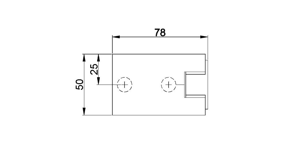 technische Zeichnung glastür scharnier für dusche mit außenöffnung 180° ART. 701C 700-serie