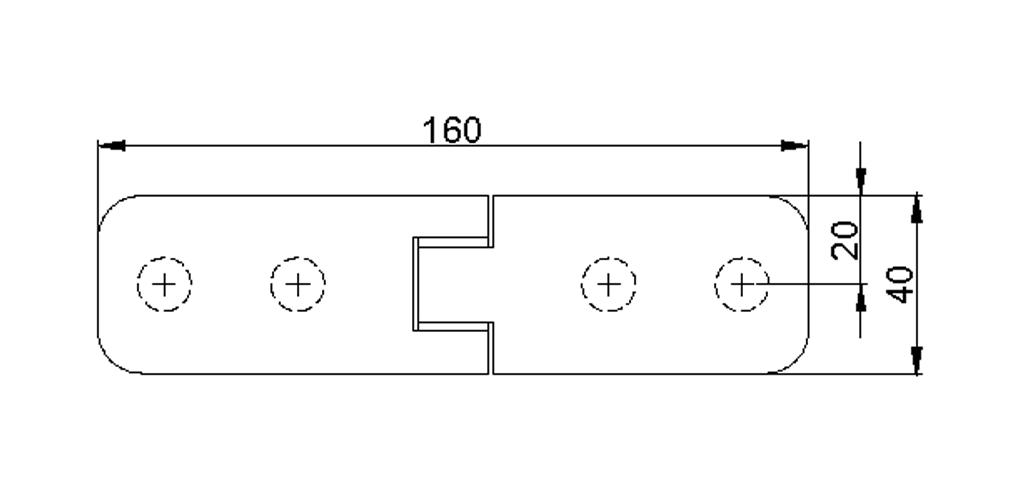 technische Zeichnung glastür scharnier für dusche mit außenöffnung 90° ART. 800A 800-serie