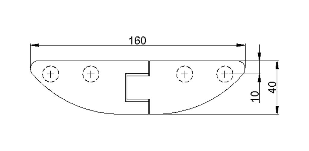 technische Zeichnung glastür scharnier für dusche mit außenöffnung 90° ART. 800C 800-serie