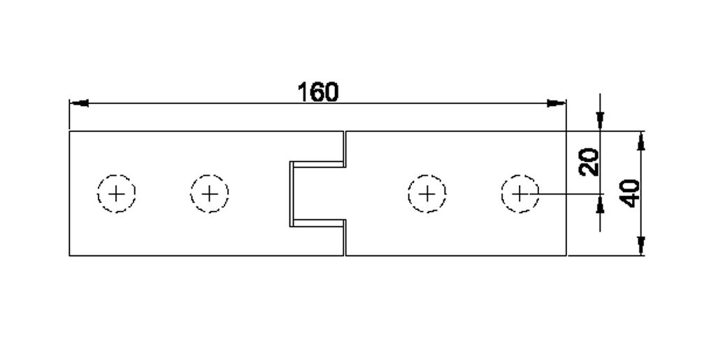 technische Zeichnung glastür scharnier für dusche mit außenöffnung 90° ART. 800E 800-serie