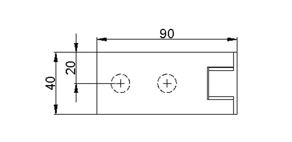 technische Zeichnung glastür scharnier für dusche mit außenöffnung 90° ART. 801E 800-serie