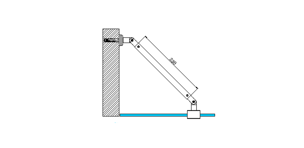 technische Zeichnung stabilisationsstangen ART. A0 messing stützstangen programm