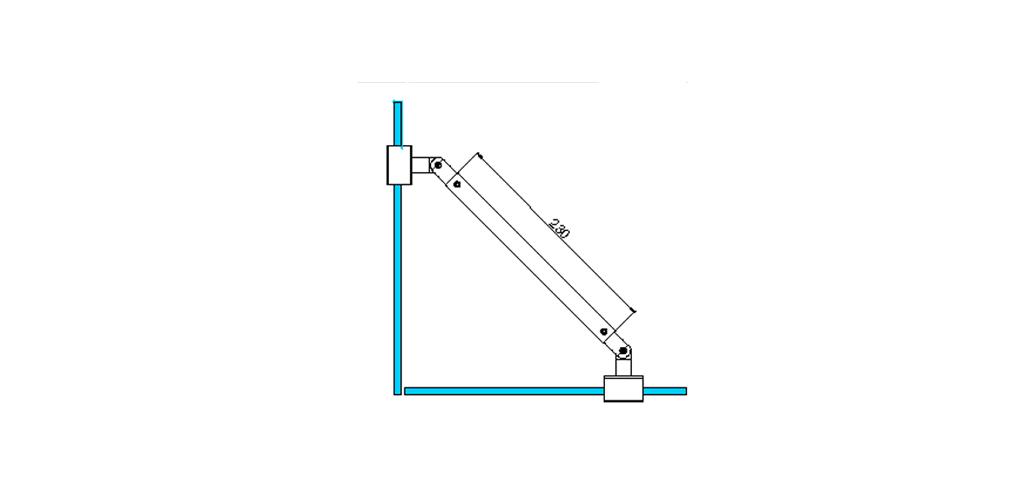technische Zeichnung stabilisationsstangen ART. A1 messing stützstangen programm