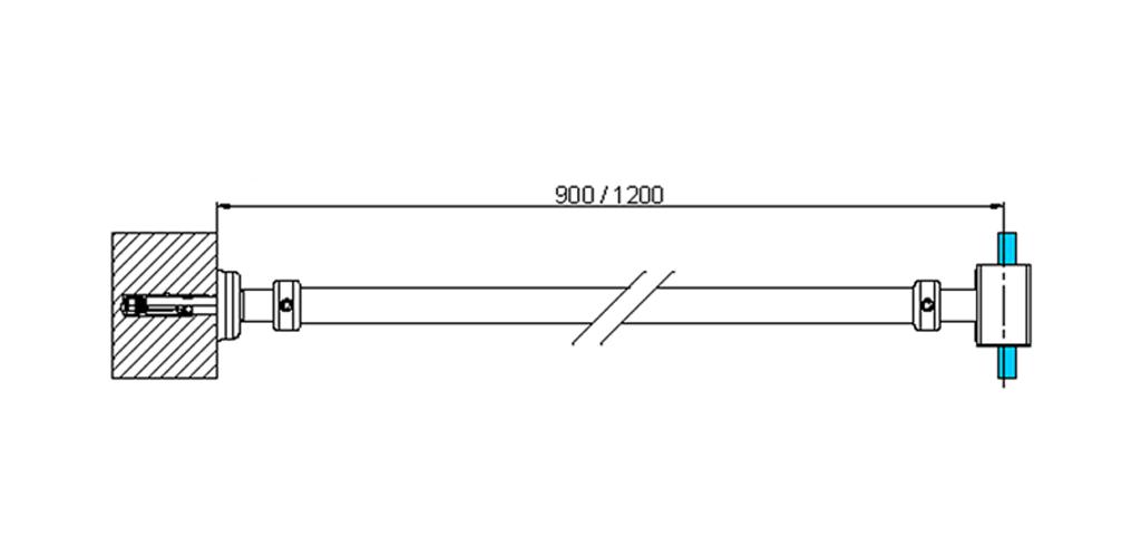 technische Zeichnung stabilisationsstangen ART. A2 messing stützstangen programm