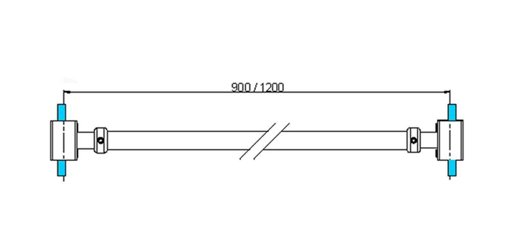technische Zeichnung stabilisationsstangen ART. A4 messing stützstangen programm