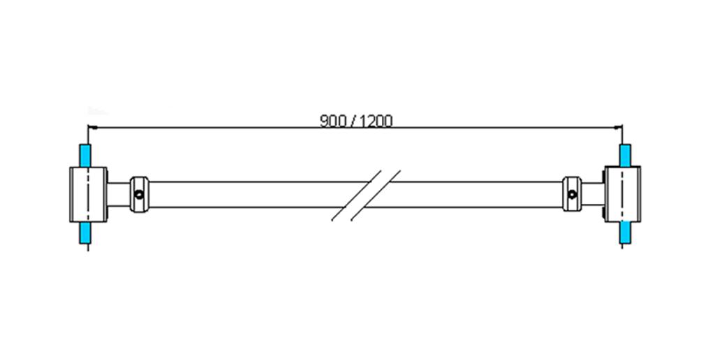 technische Zeichnung stabilisationsstangen ART. A5 messing stützstangen programm