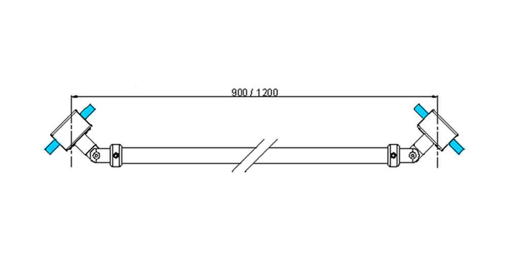 technische Zeichnung stabilisationsstangen ART. A6 messing stützstangen programm