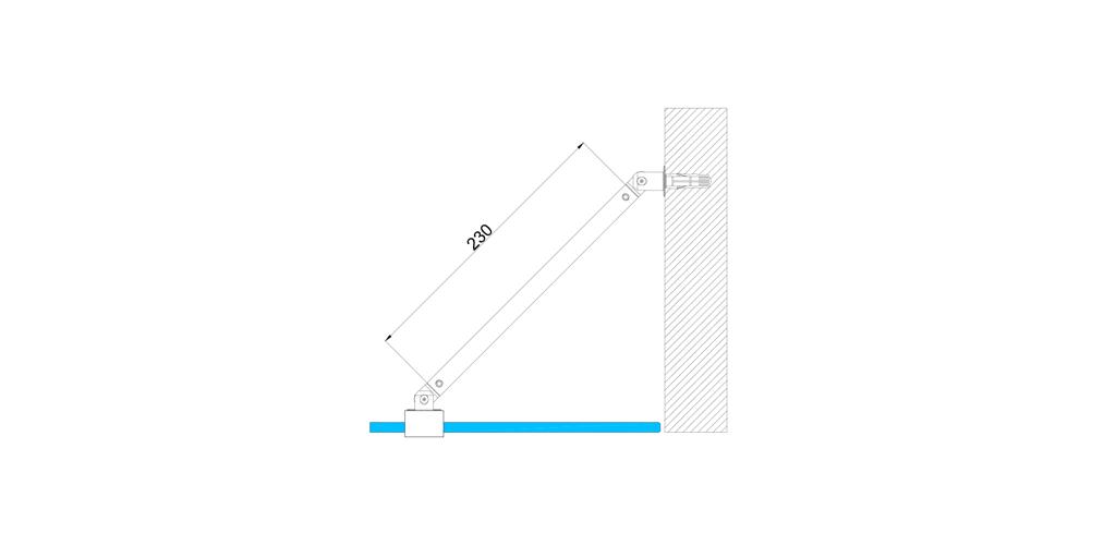 technische Zeichnung stabilisationsstangen ART. C0166 slim-serie