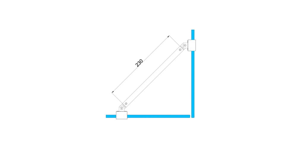 technische Zeichnung stabilisationsstangen ART. C0167 slim-serie