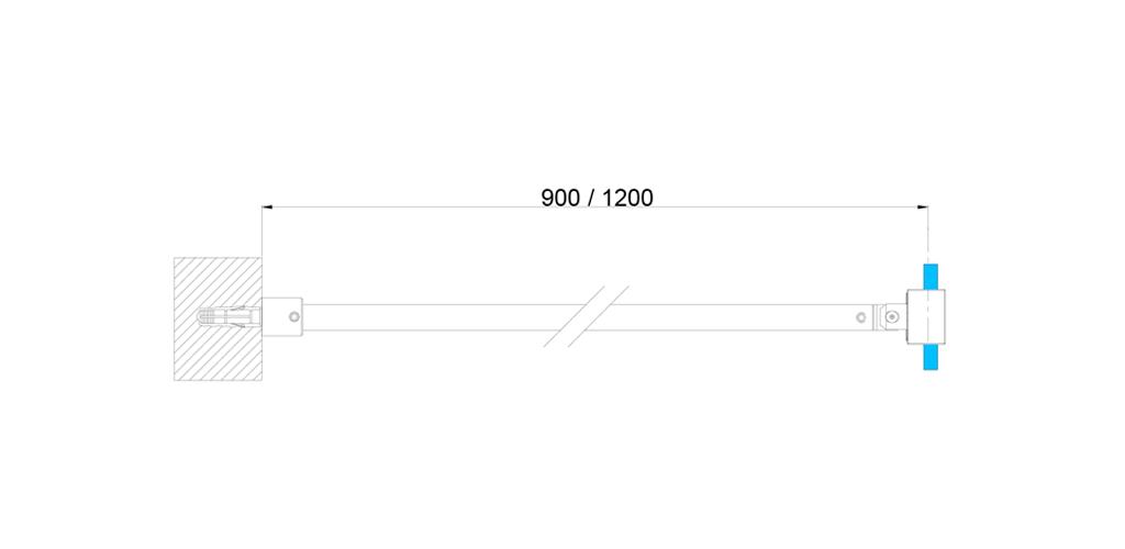 technische Zeichnung stabilisationsstangen ART. C0169 slim-serie