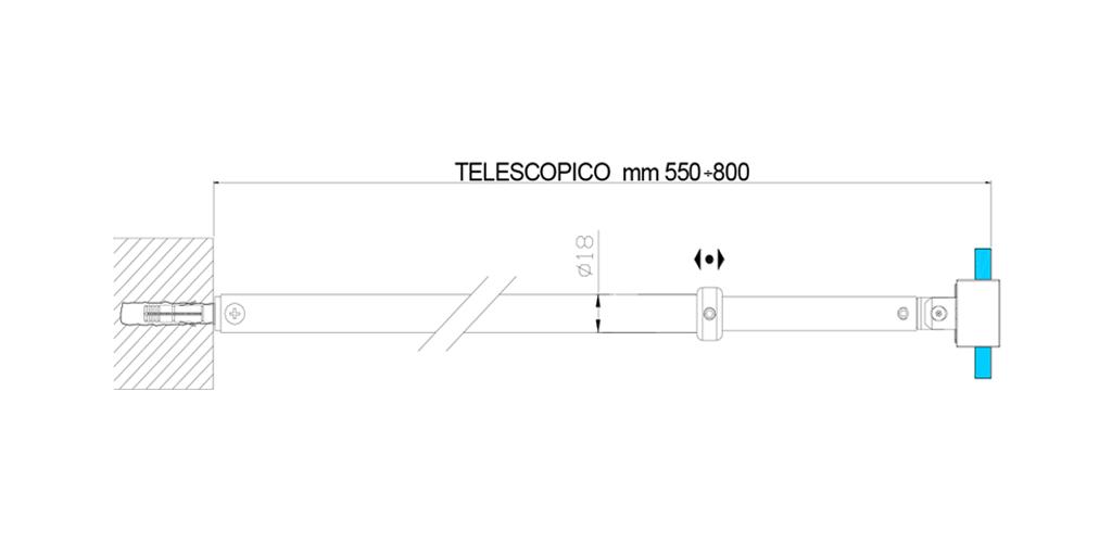 technische Zeichnung stabilisationsstangen ART. C0197 andere serien