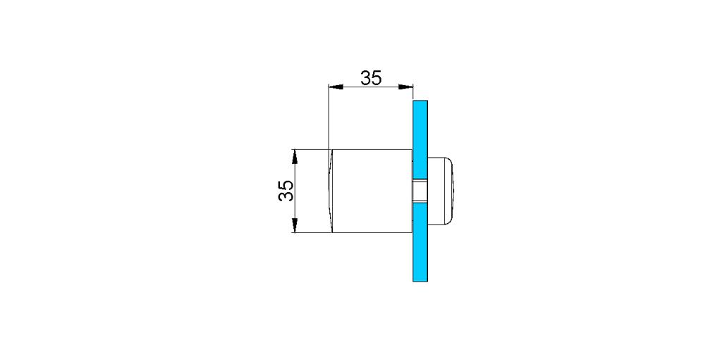 technische Zeichnung türgriffe ART. L4 lybra-serie