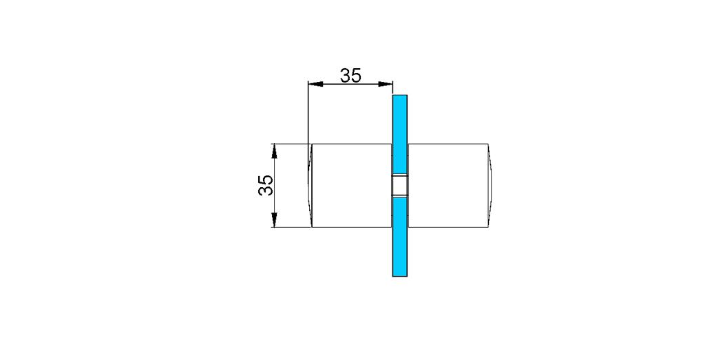technische Zeichnung türgriffe ART. L5 lybra-serie
