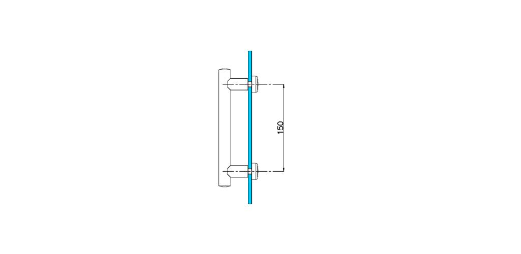 technische Zeichnung türgriffe ART. L6 lybra-serie