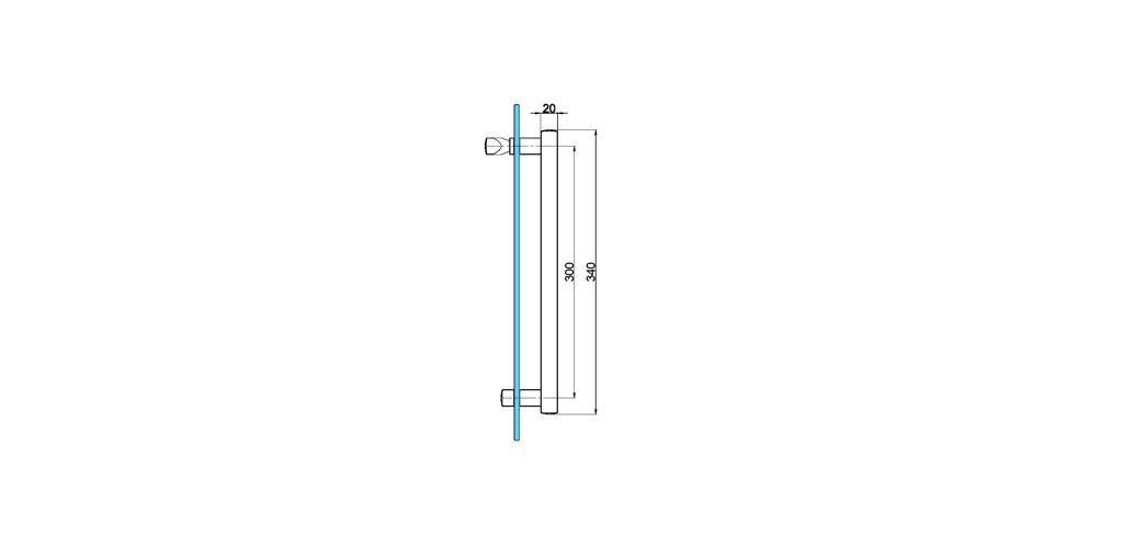 technische Zeichnung türgriffe ART. T1 truman-serie