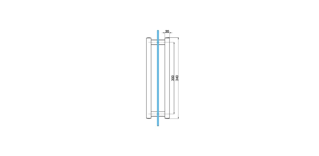 technische Zeichnung türgriffe ART. T2 truman-serie