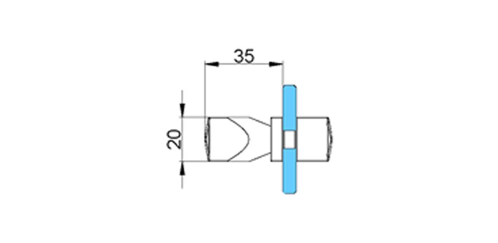 technische Zeichnung türgriffe ART. T3 truman-serie