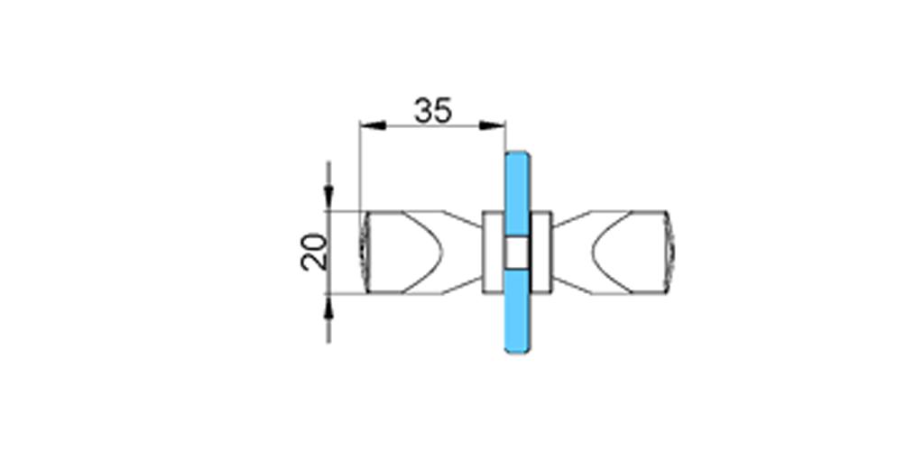technische Zeichnung türgriffe ART. T4 truman-serie