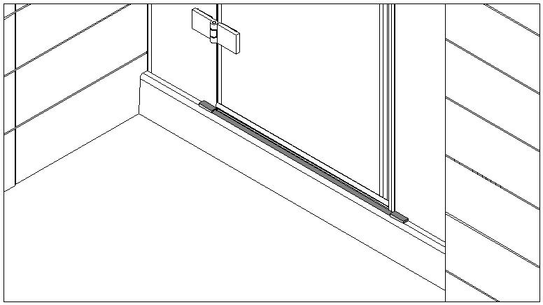 technische Zeichnung schwallschutzprofile ART. C0298 unica-serie