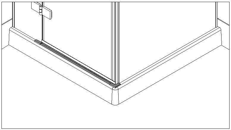 technische Zeichnung schwallschutzprofile ART. C0300 unica-serie