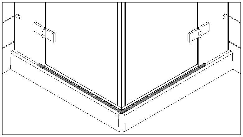 technische Zeichnung schwallschutzprofile ART. C0302 unica-serie