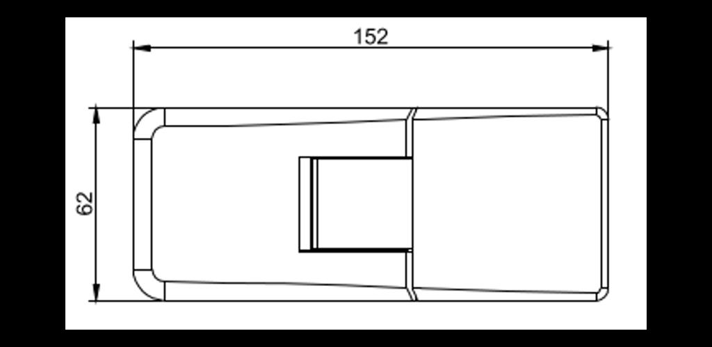 technische Zeichnung glastür scharnier für dusche mit 180° öffnung, 90° nach innen und aussen ART. C0297 up-serie