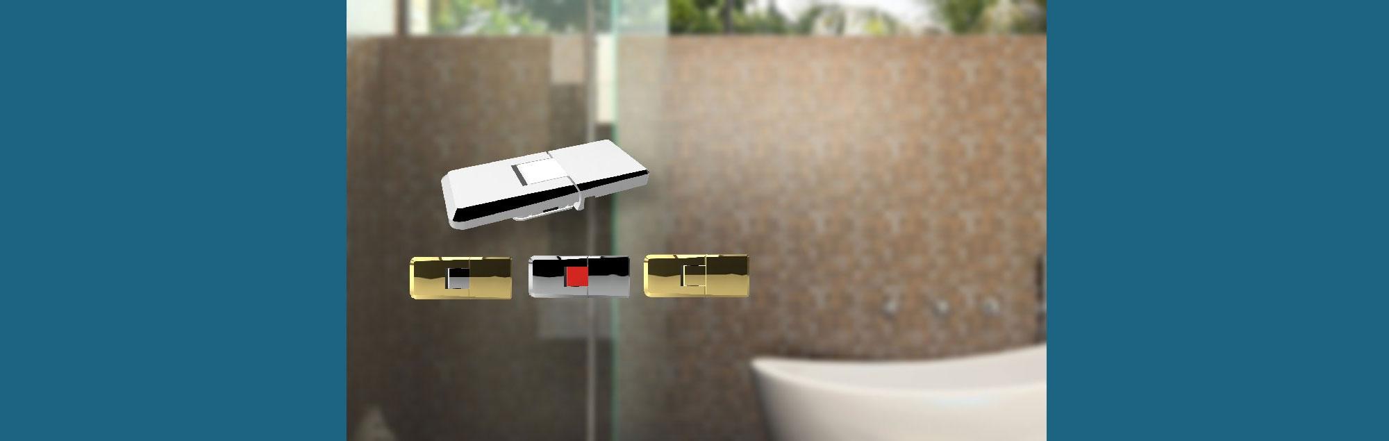 Planung und Produktion Türbänder für Glastüren  dusche